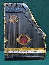 DECORATIVE EBONISED 'MENZENHAUR'S GUITAR ZITHER'
