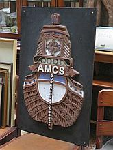 CARVED WOODEN SHIPPING PLAQUE - AMCS