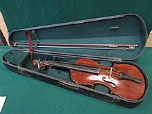 CASED VIOLIN WITH BOW WITH LABEL INSIDE- THE MAIDSTONE, JOHN G. MURDOCH & C