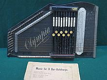 OLYMPIA EBONISED NINE BAR AUTO HARP/ZITHER