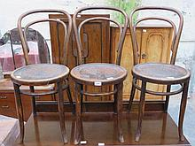 SET OF THREE BENTWOOD CHAIRS