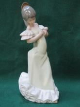 NAO GLAZED CERAMIC FIGURE- FLAMENCO DANCER, APPROX