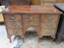ANTIQUE MAHOGANY EIGHT DRAWER WRITING DESK