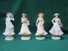 SET OF FOUR ROYAL WORCESTER - THE FOUR SEASONS COL