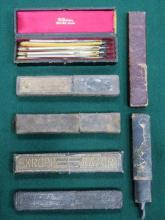 SIX VARIOUS VINTAGE CUT THROAT RAZORS AND BOXED SE