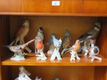 PARCEL OF UNGLAZED GOEBELS CERAMIC BIRDS (TWO AT F