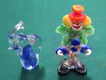 TWO PIECES OF MURANO GLASS