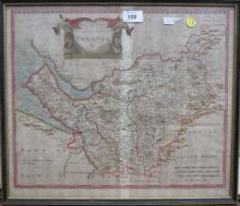 ROB MORDEN, FRAMED MAP OF THE COUNTY PALATINE OF C