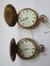 TWO THOMAS RUSSELL GOLD PLATED POCKET WATCHES