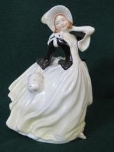 ROYAL DOULTON GLAZED CERAMIC FIGURE- AUTUMN BREEZE