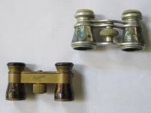 TWO PAIRS OF DECORATIVE VINTAGE OPERA GLASSES