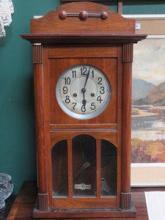 MAHOGANY CASED WALL CLOCK