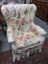 UPHOLSTERED WING ARMCHAIR