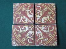 SET OF FOUR 17th/18th CENTURY DECORATIVE TILES, AP