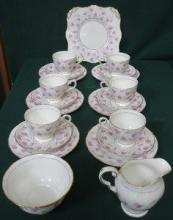 PARCEL OF TUSCAN FLORAL TEA SET, APPROXIMATELY TWE