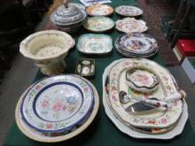 PARCEL OF EARLY CERAMICS INCLUDING PLATES, DISHES,