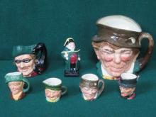 PARCEL OF VARIOUS DOULTON CHARACTER JUGS AND SMALL