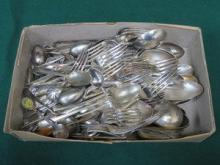 PARCEL OF SILVER PLATED FLATWARE