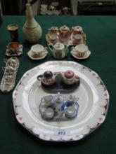 SMALL SUNDRY LOT INCLUDING MINIATURE TEA SETS AND