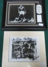 FRAMED PHOTOGRAPH SIGNED BY MUHAMMAD ALI, ALSO SIG