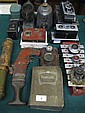 SUNDRY LOT INCLUDING CAMERAS, MINER'S LAMP,