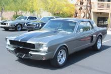 1965 Ford Mustang  (gray w/blk stripes)