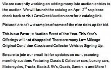 Please Click Here for Auction Information & Catalog Info