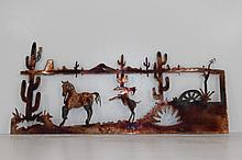 Handmade Metal Wall Art Desert Scene