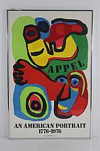 Framed Karel Appel Litho Maurlot Paris
