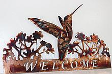 Handmade Metal Wall Art Humming Bird