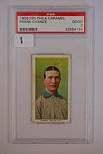 1909 E95 Philadelphia Carmel Frank Chance PSA 2