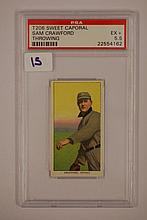 1909-1911 T206 Sweet Caporal Sam Crawford Throwing