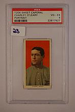 1909-1911 T206 Sweet Caporal Charley O'Leary Portr
