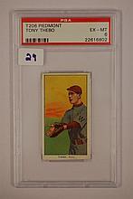 1909-1911 T206 Piedmont Tony Thebo PSA EX-MT 6