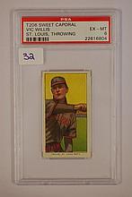 1909-1911 T206 Sweet Caporal Vic Willis St. Louis,