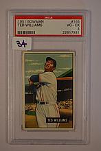 1951 Bowman 165 Ted Williams PSA VG  4
