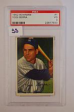 1952 Bowman 1 Yogi Berra PSA VG 3