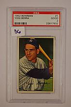 1952 Bowman 1 Yogi Berra PSA Good 2