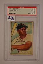 1952 Bowman 218 Willie Mays PSA Good 2