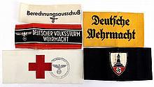 WWII GERMAN ARMBAND LOT