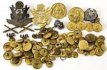 US MILITARY BUTTON PIN BADGE LOT