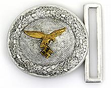 WWII GERMAN LUFTWAFFE OFFICER BROCADE BELT BUCKLE