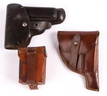 WWII GERMAN HOLSTERS AND AMMO CASE