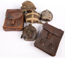 WWII JAPANESE GEAR AND CAP LOT