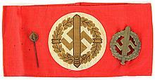 WWII GERMAN SA SPORTS LOT ARMBAND BADGE PIN