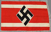 CAPTURED WWII GERMAN NSDStB MARCHING FLAG