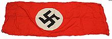 WWII CAPTURED SIGNED GERMAN NSDAP BANNER