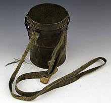 WWI GERMAN GAS MASK IN CAN