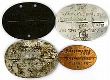 WWII GERMAN DOG TAG LOT SS KRIEGSMARINE