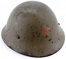 WWII JAPANESE ARMY HELMET WITH LINER